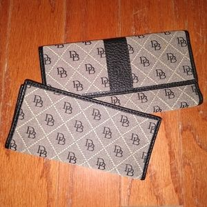 Dooney & Bourke wallet with check book cover